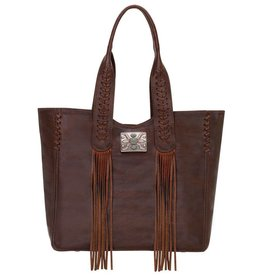 American West Mohave Tote Chestnut Brown