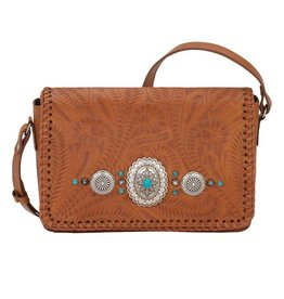 American West Lariat Love Crossbody Golden Tan