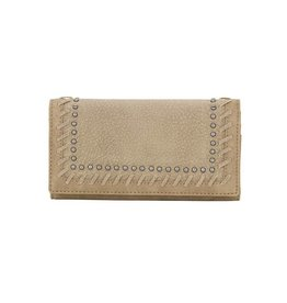 Bandana Stitched Wallet - Stone