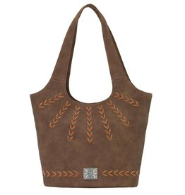 Bandana Sagebrush Bucket Tote - Chocolate