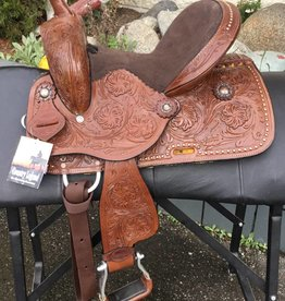 Rusty Youth Saddle Floral Tooling 12""