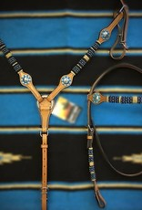 COUNTRY LEGEND Country Legend Headstall w/ Rawhide and Turquoise Beads