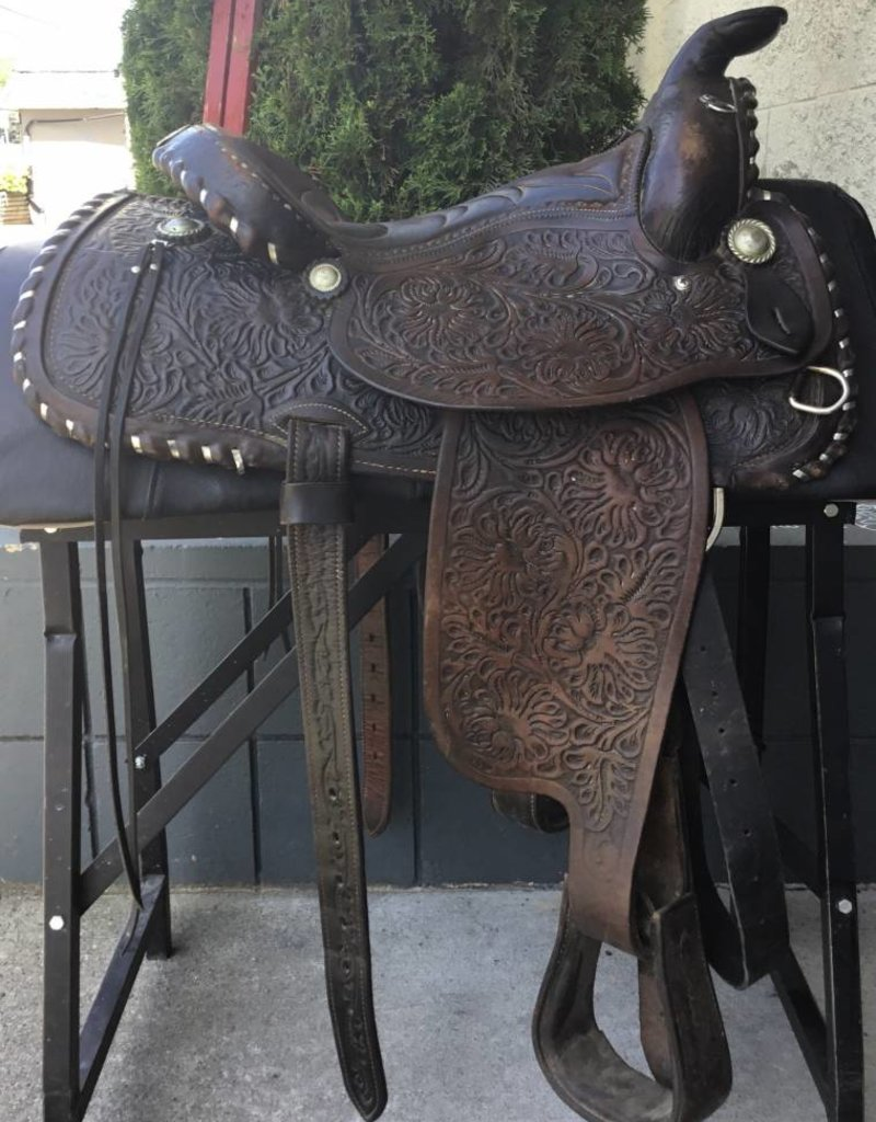 """33-5W-1 Simco Western Saddle 15"""" Seat 7.5"""" Gullet"""
