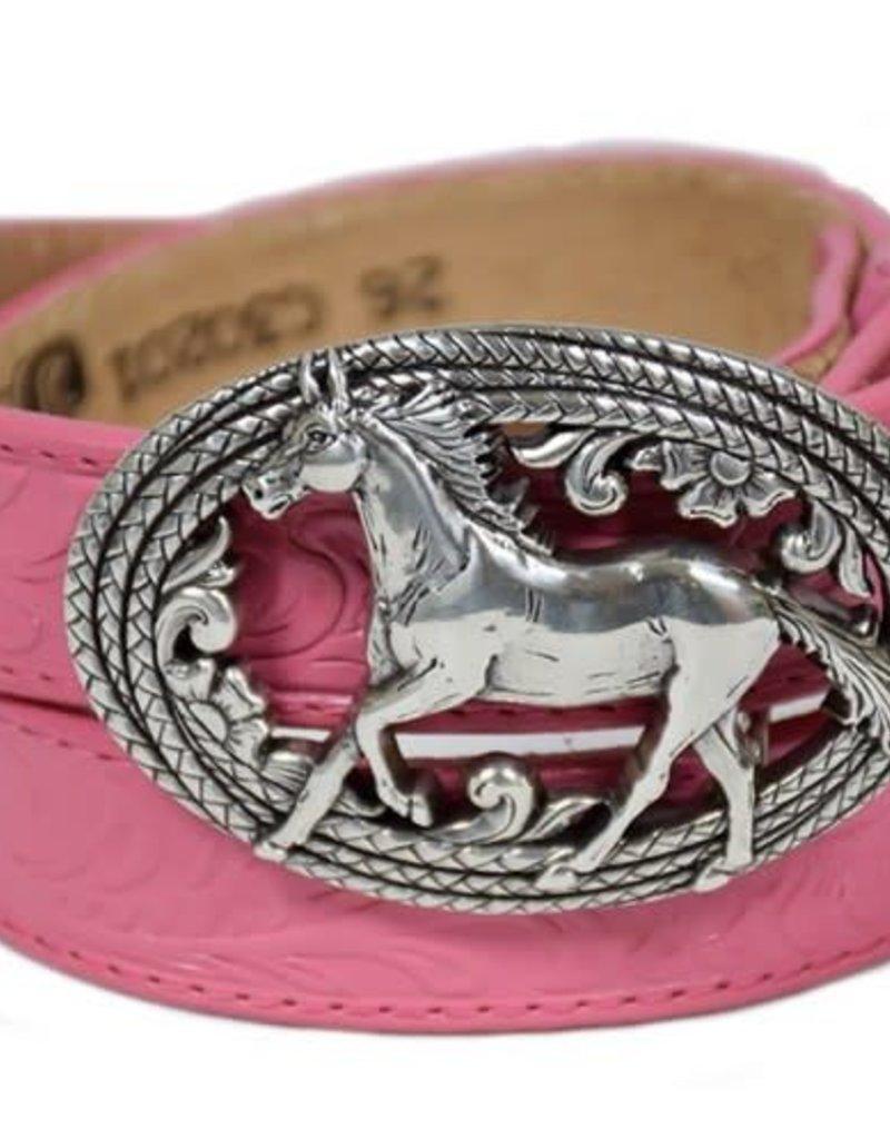 JUSTIN Girls' Lil' Beauty Belt-Pink