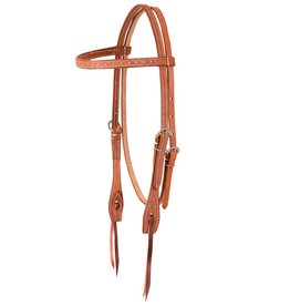 MARTIN SADDLERY Roughout Headstall with Dots - Browband
