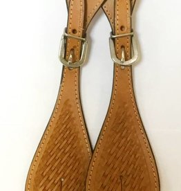 Basketweave Spur Strap -Light Oil