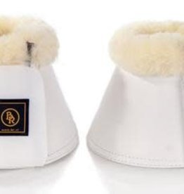 BR EQUESTRIAN BR Overreach Bell Boots w/ Sheepskin-White
