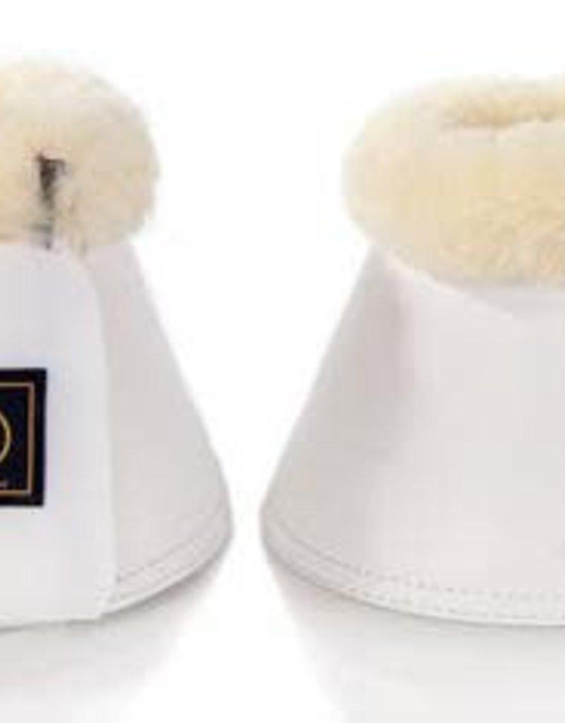 BR EQUESTRIAN BR Overreach Bell Boots w/ Sheepskin-White
