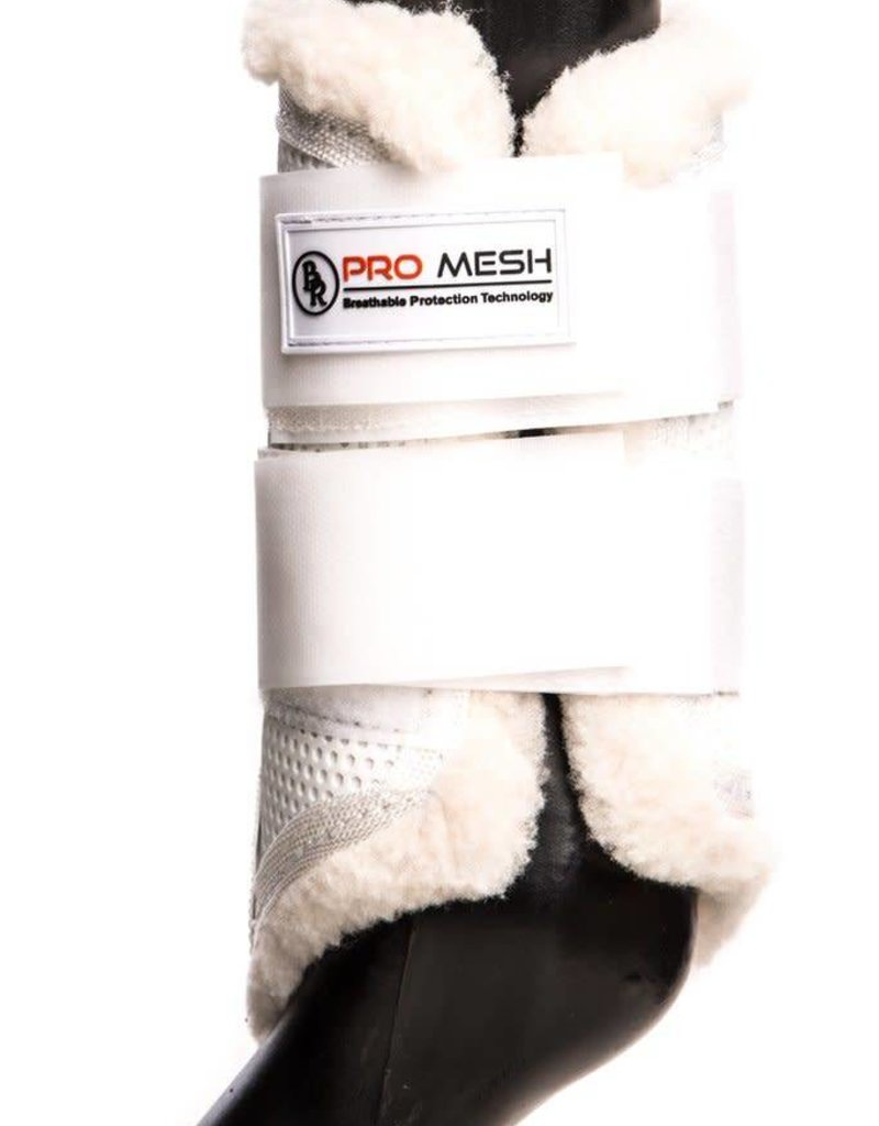 BR EQUESTRIAN BR Pro Mesh Protective Boots w/ Fleece Lining-White