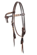 MARTIN SADDLERY Rawhide Braided Headstall Tie Front