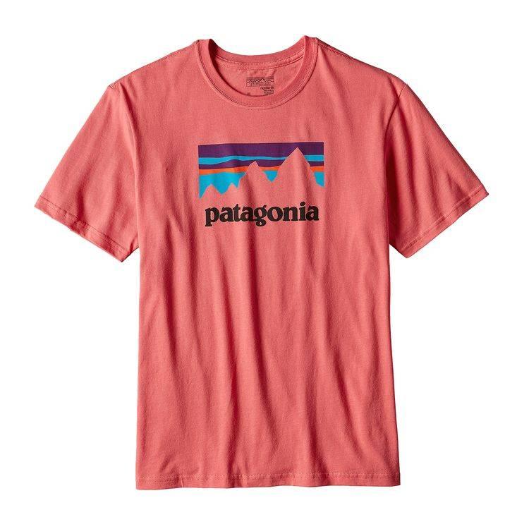 Patagonia Patagonia Men's Shop Sticker Cotton T-Shirt