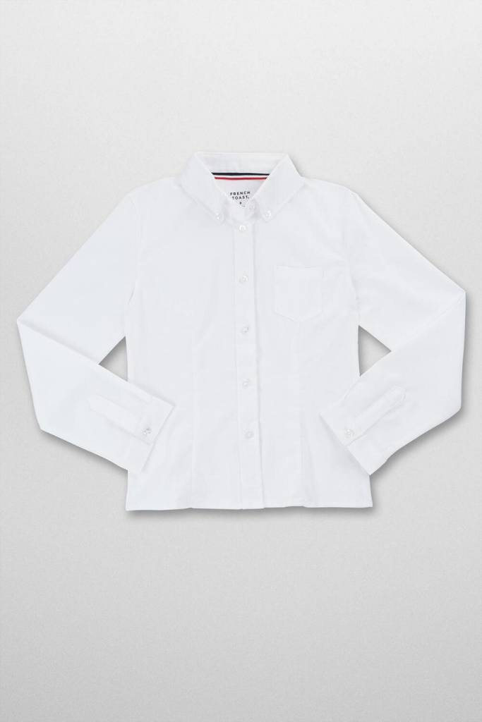 GIRLS FRENCH TOAST L/S OXFORD BLOUSE