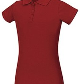Classroom CR GIRLS STRETCH S/S PIQUE POLO