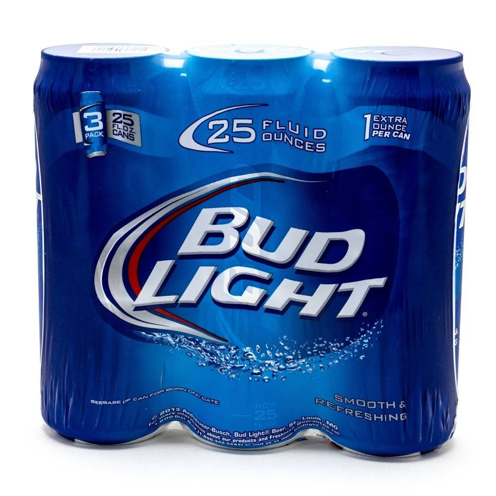 Bud Light 25oz 3Pk Cans