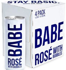 Babe Rose With Bubbles 1L 4Pk