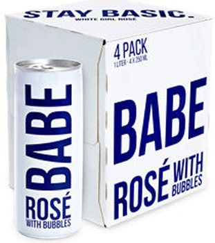 Babe Rose With Bubbles 250ml 4Pk Cans