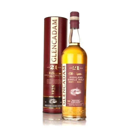 Glencadam 21Yr. Highland Single Malt Scotch Whiskey 750ml
