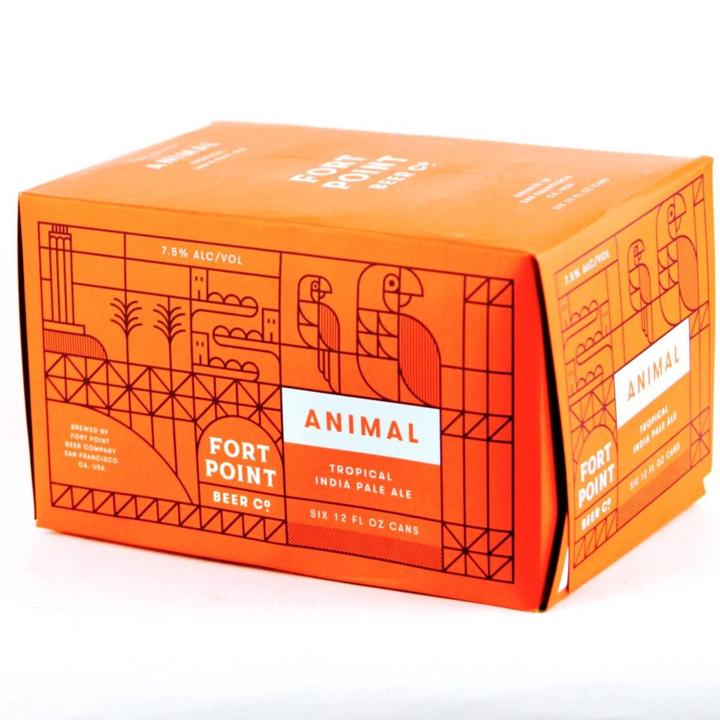 Fort Point Beer Co. Animal Tropical IPA 12oz 6Pk Cans