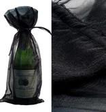 Black Organza Wine Bag