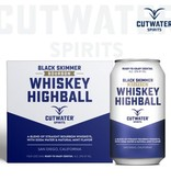 Cutwater Black Skimmer Whiskey Highball 12oz 4Pk Cans