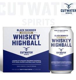 Cutwater Black Skimmer Whiskey Highball 12oz 4Pk Cans
