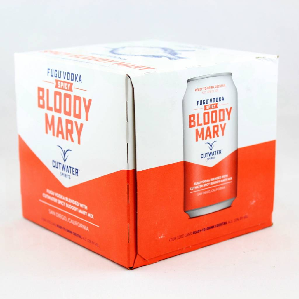 Cutwater Fugu Vodka Spicy Bloody Mary 12oz 4Pk Cans
