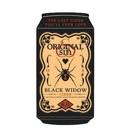 Original Sin Black Widow Cider Blackberry & Apples 12oz 6Pk Cans