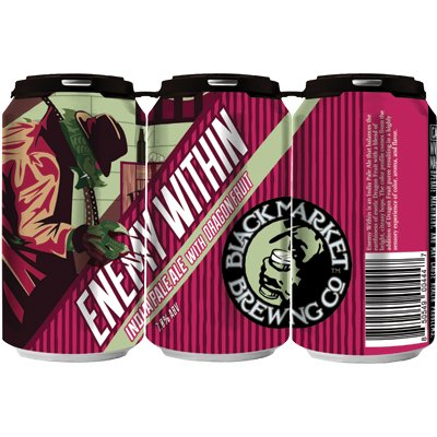 Black Market Brewing Co. Enemy Within Passion Fruit IPA 12oz 6pk Cans