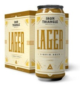 Iron Triangle Liquid Gold Lager 16oz 4Pk Cans