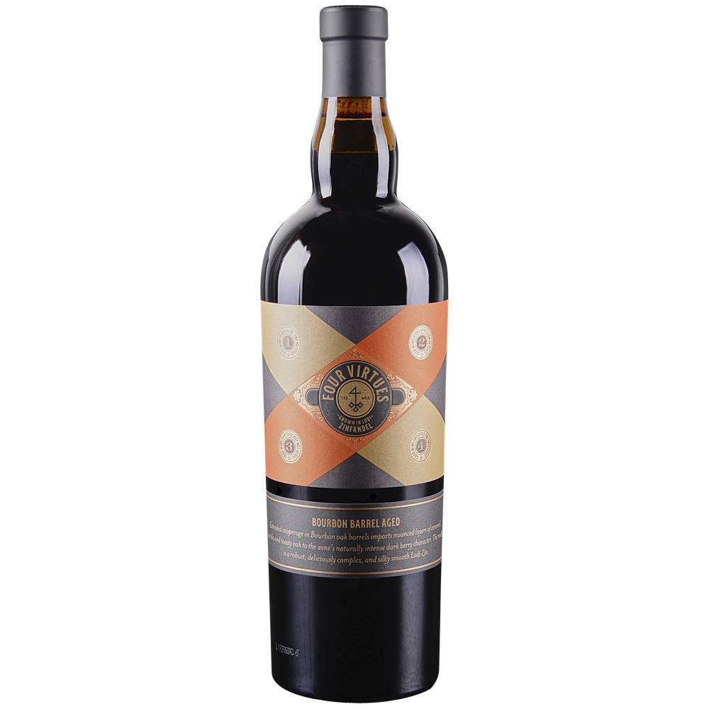 Four Virtues Bourbon Barrel Aged Old Vine Zinfandel 2016 Lodi 750ml