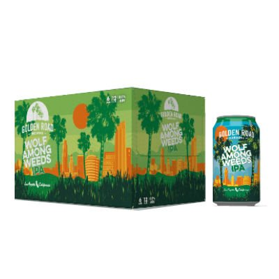 Golden Road Wolf Among Weeds IPA 8.0%ABV.  12oz 6Pk Cans