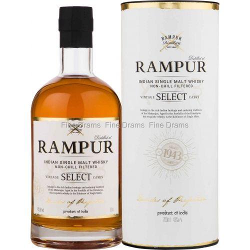 Rampur Indian Single Malt Whisky Non-Chilled Filtered Vintage Select Casks 750ml