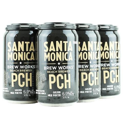 Santa Monica Brew Works PCH Golden Milk Porter 12oz 6Pk Cans