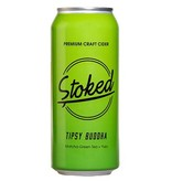 Stoked Premium Craft Cider Tipsy Buddha Matcha Green Tea + Yuzu 16oz 4Pk Cans