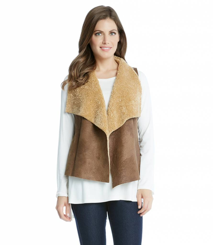 Reversible Faux Fur Vest