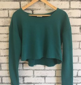 Plume & Thread Plume & Thread Crop Sweatshirt