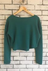 Plume & Thread Plume & Thread Crop Sweatshirt