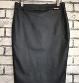 I Love Tyler Madison Wax Coated Basic Skirt