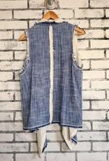 Fifteen Twenty Raw Edge Collar vest