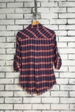 Plaid Fringe Shirt