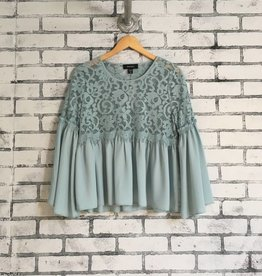 Flare Lace Top