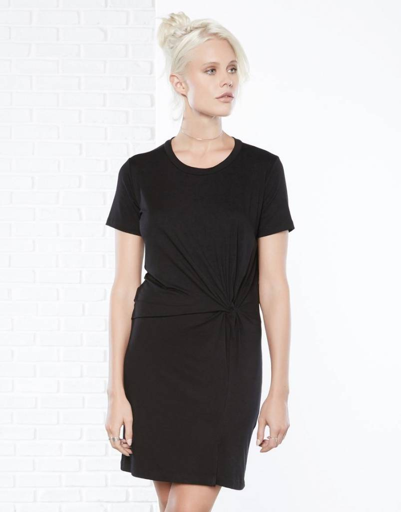 Fifteen Twenty Side-Twist Drape Dress