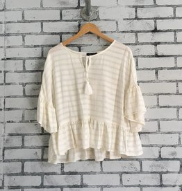 Maven West MW Ruffle Top
