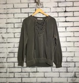 Project Social T Slave to Love Lace-up Sweatshirt