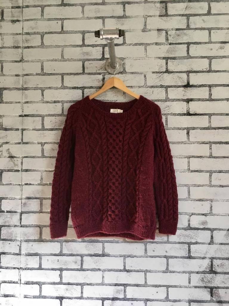 Bibico Roxie Pure Wool Aran Sweater