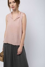 It is Well LA Split Neck Top