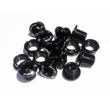 BOX BOX Components Spiral 7075 Alloy Chainring Bolt Kit, 15 pieces, Black