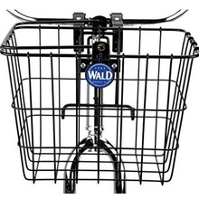 Wald Wald 3114 Front Quick Release Basket with Bolt-On Mount: Gloss Black