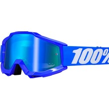 100% 100% Accuri Goggle, Reflex Blue with Mirror Blue Lens, Spare Clear Lens Included