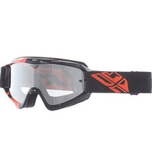 FLY GOGGLE ZONE BLK/ORG CLEAR/ FLASH CHROME LENS